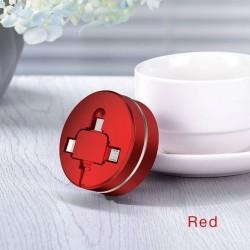 CAFELE Câble de Charge USB rétractable pour IP & Micro USB & Type-C 3 en 1
