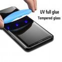 Galaxy S10+ - Protection Écran en Verre trempé de Dispersion Liquide avec Lumière UV 3D