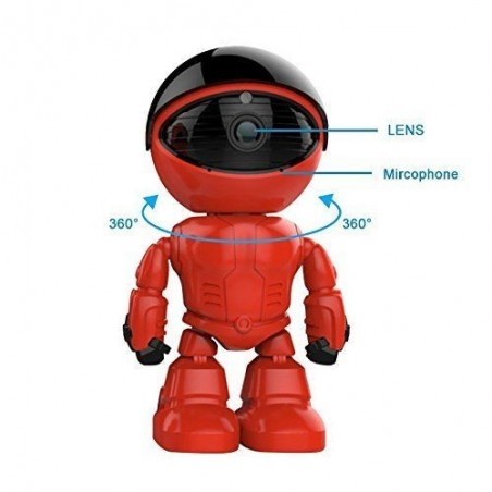 Red Robot Caméra ip Sans Fil, Wifi Caméra de Surveillance 960P