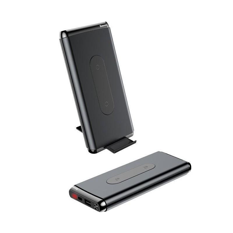 Baseus 10000mAh Power Bank + chargeur sans fil + Support + affichage numérique