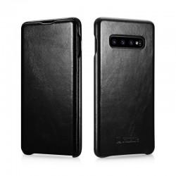 Galaxy s10 plus-étui cuir noir de lux