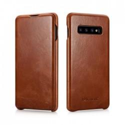iPhone xs max-étui cuir Brun de lux