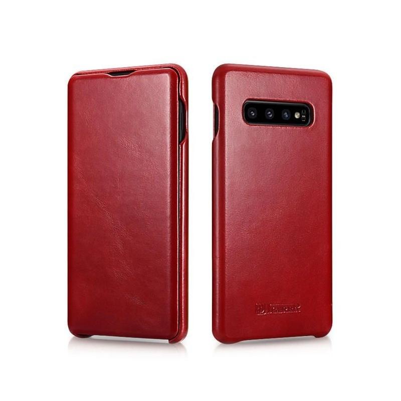 Galaxy S10 plus-étui cuir brown de lux