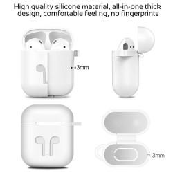Airpods - Coque de protection silicone Schwarz