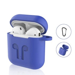 Airpods - Coque de protection silicone Bleue