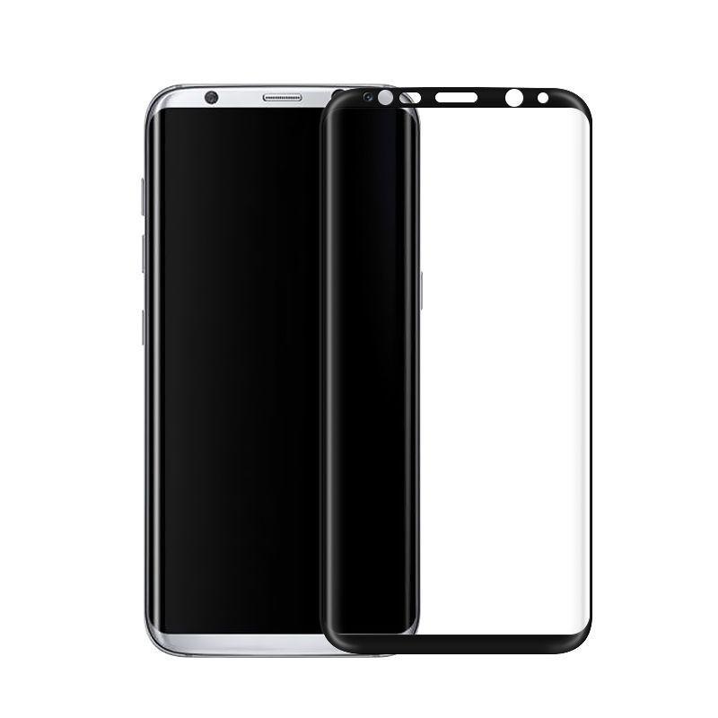 Galaxy S8 plus - protection plein écran en verre trempé-Noir