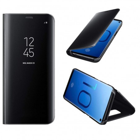 Galaxy S10E Coque Luxe Clear View Etui Miroir