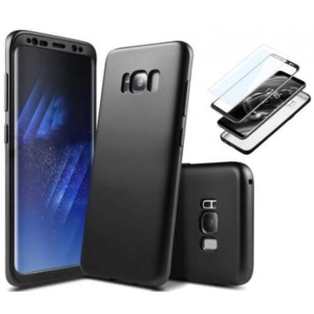 Galaxy S9 plus-Coque Noir couverture complète et film de protection offert