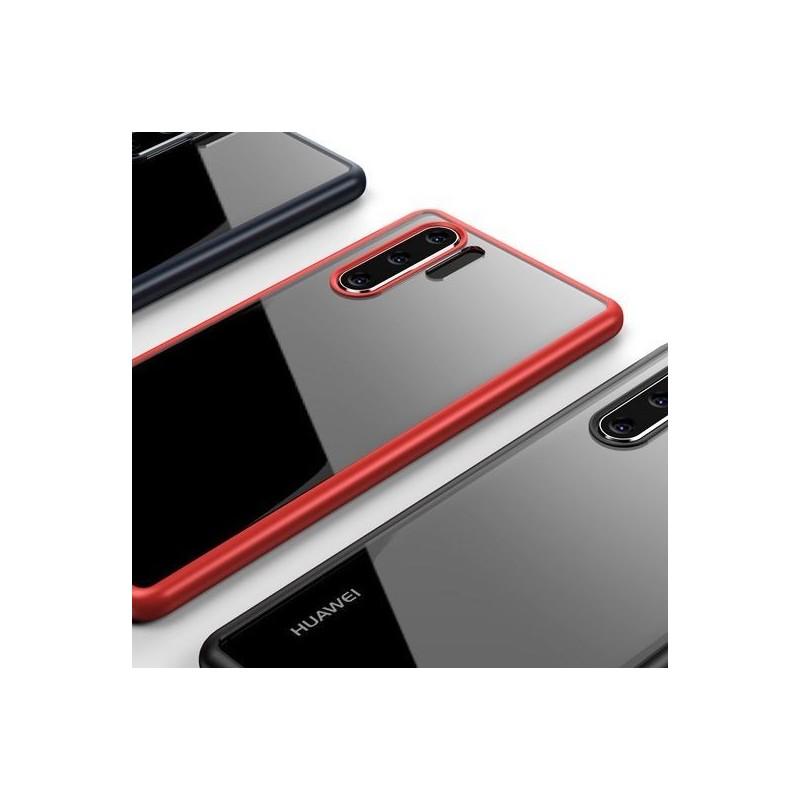 Coque Huawei P30 pro Transparente très résistant - Contours Noir