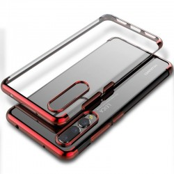 Coque Huawei P30 Transparente rouge