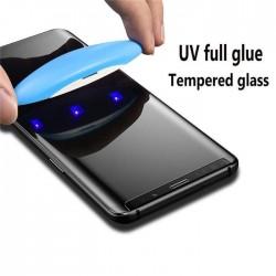 Galaxy S9  - Protection Écran en Verre trempé de Dispersion Liquide avec Lumière UV 3D