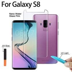 Galaxy s8+ Protection Écran en Verre trempé de Dispersion Liquide avec Lumière UV 3D