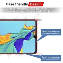 Huawei P30 Protecteur D'écran [3D Curved] Verre Trempé écran Protecteur pour Huawei P30 Pro (Noir)