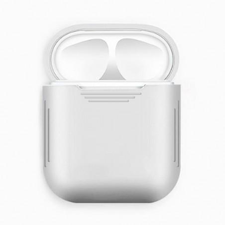 Airpods - Coque de protection silicone Blanc