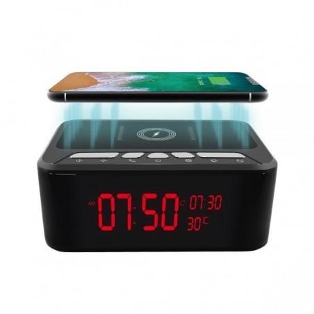 HD 1080P Chargeur sans fil et haut-parleur caméra de sécurité Wi-Fi