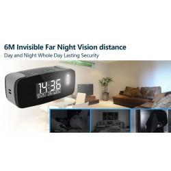 HD 1080P élégant Mini Horloge WiFi Caméra de sécurité
