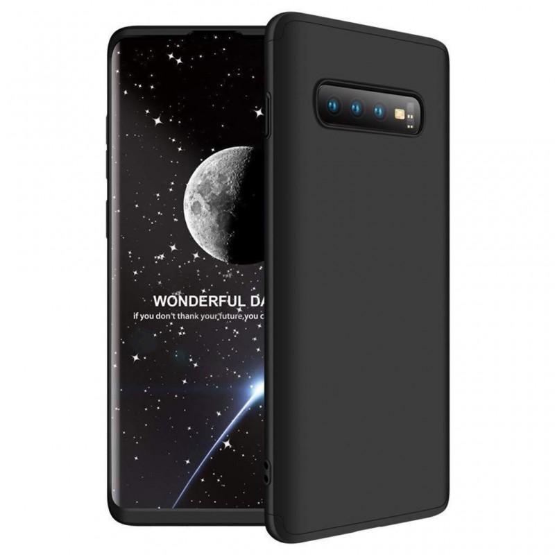 Galaxy S10E Coque abs pc Noir couverture complète et film de protection offert
