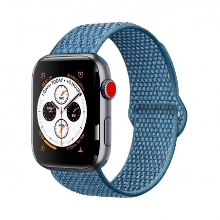 Apple watch 44/42mm - Bracelet tissé Nylon doux