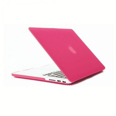 MacBook Pro 13 - Coques mate Rose devant et derrière A1278