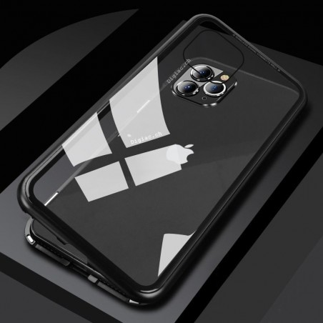 iphone 11 pro Max- Etui lux metallique double face avec verre trempé