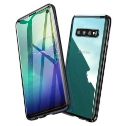 Galaxy S10 - Etui lux metallique double face avec verre trempé