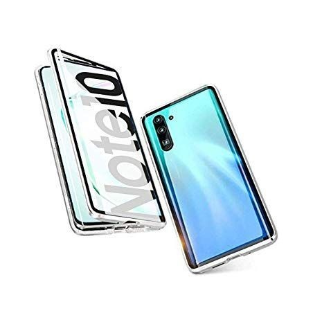 Galaxy Note 10 - Etui lux metallique double face avec verre trempé