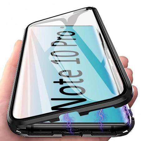 Galaxy Note 10 plus - Etui lux metallique double face avec verre trempé