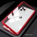 iphone 11 pro - Etui lux metallique double face avec verre trempé
