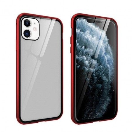 iphone 11 - Etui lux metallique double face avec verre trempé