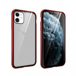 iphone 11 pro - Etui lux metallique double face avec verre trempé