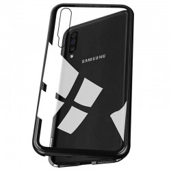 Galaxy A50 - Etui lux metallique double face avec verre trempé