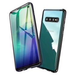 Galaxy S10plus - Etui lux metallique double face avec verre trempé