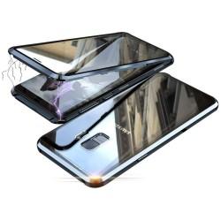 Galaxy S9plus - Etui lux metallique double face avec verre trempé