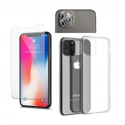 Kit de protection 360° iphone 11 pro (coque + verre trempé + Lentille caméra)