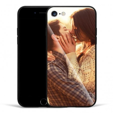 Coque protectrice iPhone personnalisée Verre HD+Silicone