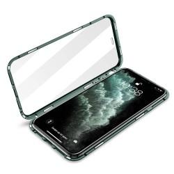 iphone 11 pro -Etui metal VERT NUIT double face Etui de Lux