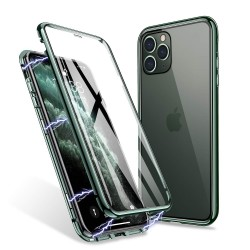 iphone 11 pro max -Etui metal VERT NUIT double face Etui de Lux