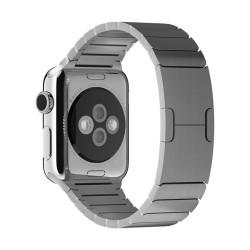 Apple watch 40mm/38mm - bracelet à maillons en acier inoxydable avec Fermoir déployante - Argent