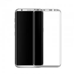 Galaxy S8 - protection plein écran en verre trempé-argenté