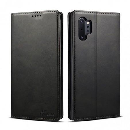 Samsung Galaxy Note10 plus-étui support rétro avec pochettes - Noir