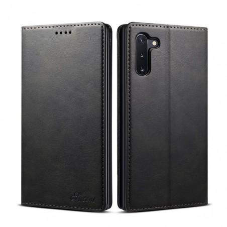 Samsung Galaxy Note10 -étui support rétro avec pochettes - Brun