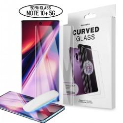 Galaxy note 10 - Protection Écran en Verre trempé de Dispersion Liquide avec Lumière UV 3D