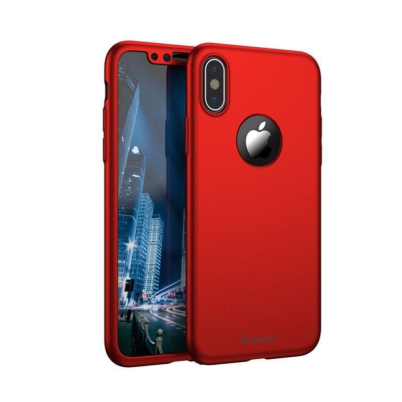 iphone Xs Max - Coque argentée couverture complète, verre offert