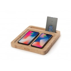 WALTER WALLET Bamboo Twin Dock avec chargeur sans fil