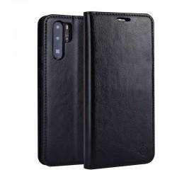 Huawei p30 pro-étui support rétro avec pochettes- Brun