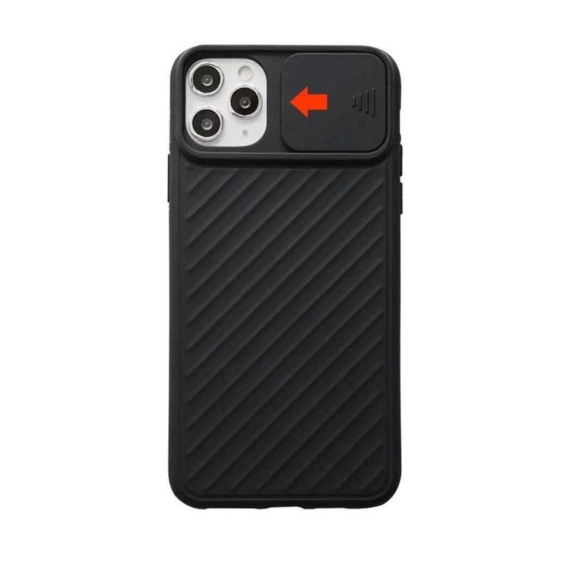iPhone 11 pro max - Coque Noire porte coulissante caméra