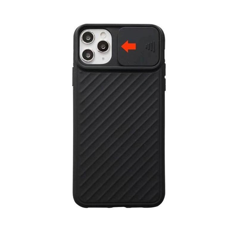 iPhone 11 - Coque Noire porte coulissante caméra
