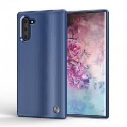 Coque Note 10 Plus Liquid Air Motif Géométrique, Premium TPU Souple, Coque Compatible avec Galaxy Note 10 + Mate Noir