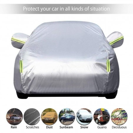 Bâche haute gamme 3S Voiture Housse de Protection ultra resistante Couverture Etanche
