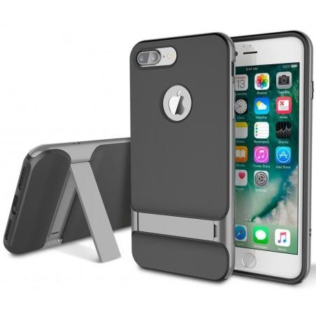 iPhone 8 plus - Coque Rock Royce avec béquille - Grise